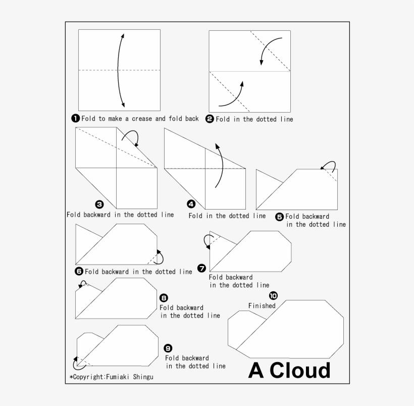 origami cloud free transparent