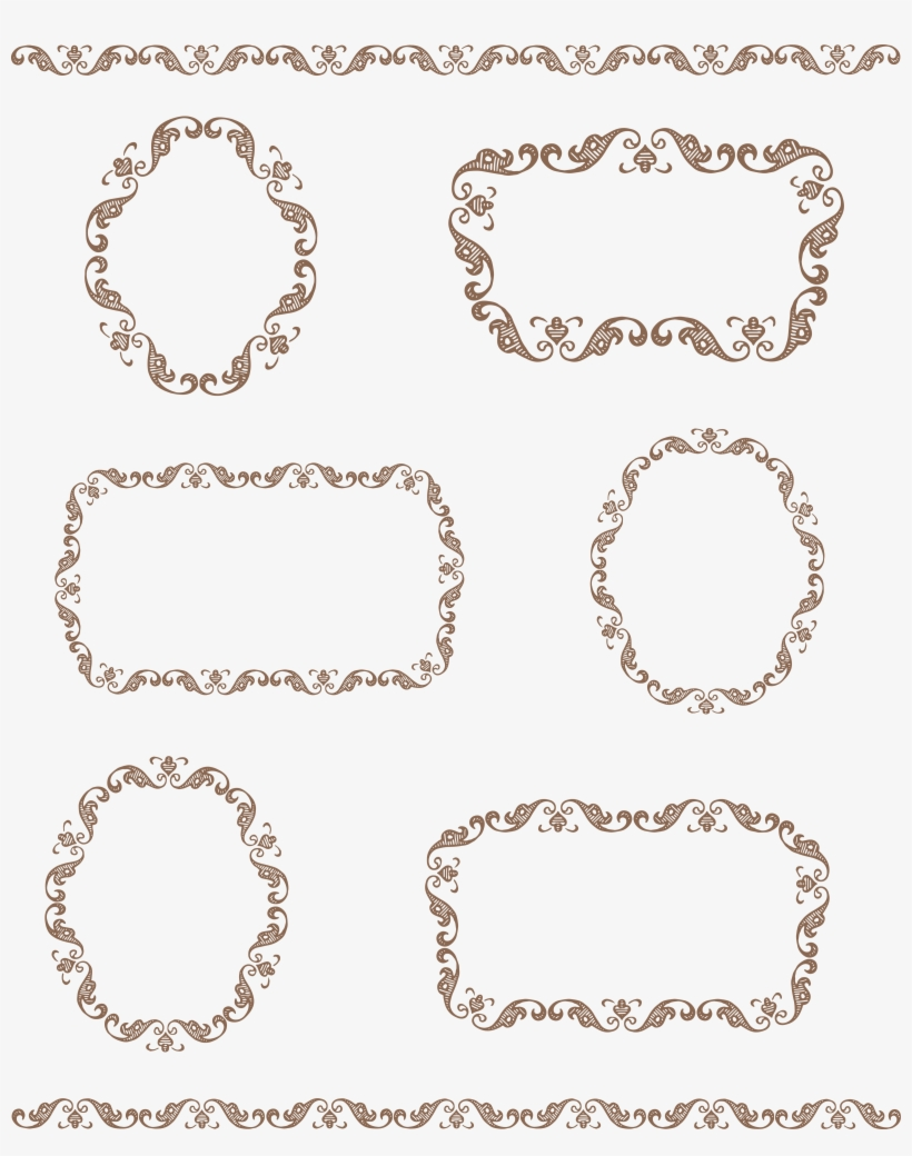 hight resolution of vector vintage borders png download frame border tag clipart