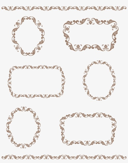 small resolution of vector vintage borders png download frame border tag clipart
