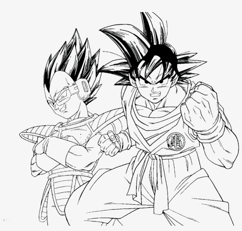 Dragon Ball Z Kai Coloring Pages Goku And Vegeta Coloring Pages Free Transparent Png Download Pngkey