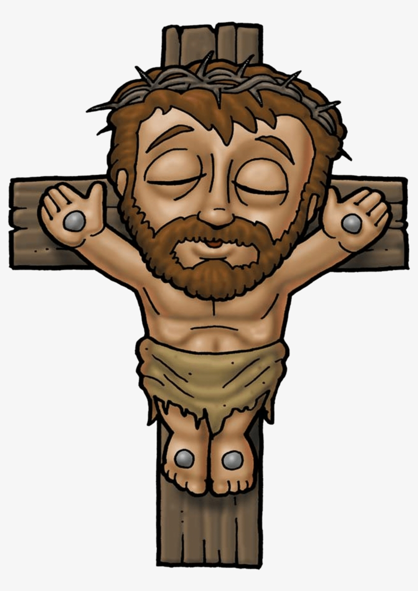 hight resolution of jesus on the cross clipart