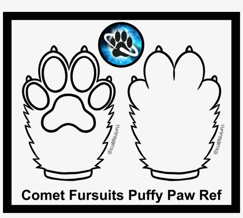 Puffy Paw Template By Jupiter X Fur Affinity Dot Net Free