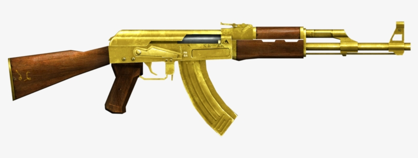 Largest Collection Of Free - Ak 47 Gold Png - Free Transparent PNG Download - PNGkey