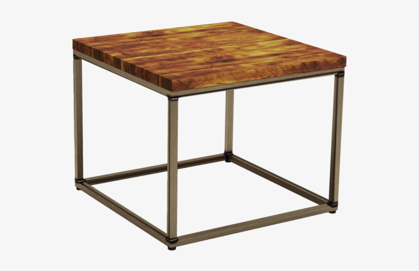 byron rustic pine square coffee table