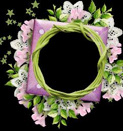 purple flower clipart round flower frame round flower flower round frame png 1409x1330  [ 1409 x 1330 Pixel ]
