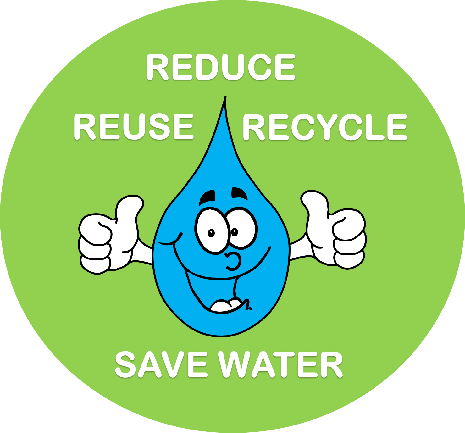 poster on water conservation clip art