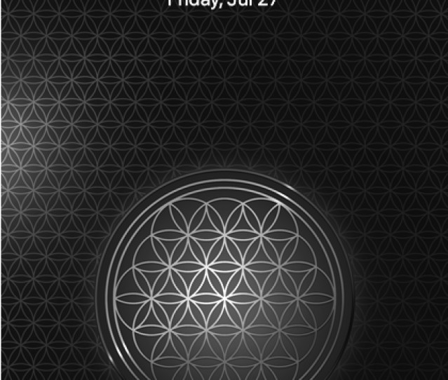Flower Of Life Silver Lock Screen Wallpaper For Iphone Mobile Phone X