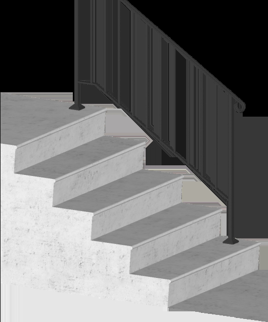 Download Picket 4 4 Foot Post To Post Spans 4 Stair Risers Iron | Iron X Handrail Picket