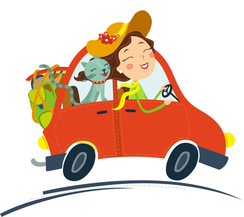 small resolution of graphic royalty free stock car traveling clipart cat and car clipart 2967x2641
