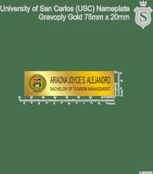 Download University Of San Carlos Nameplate Gravoply Gold 75mm