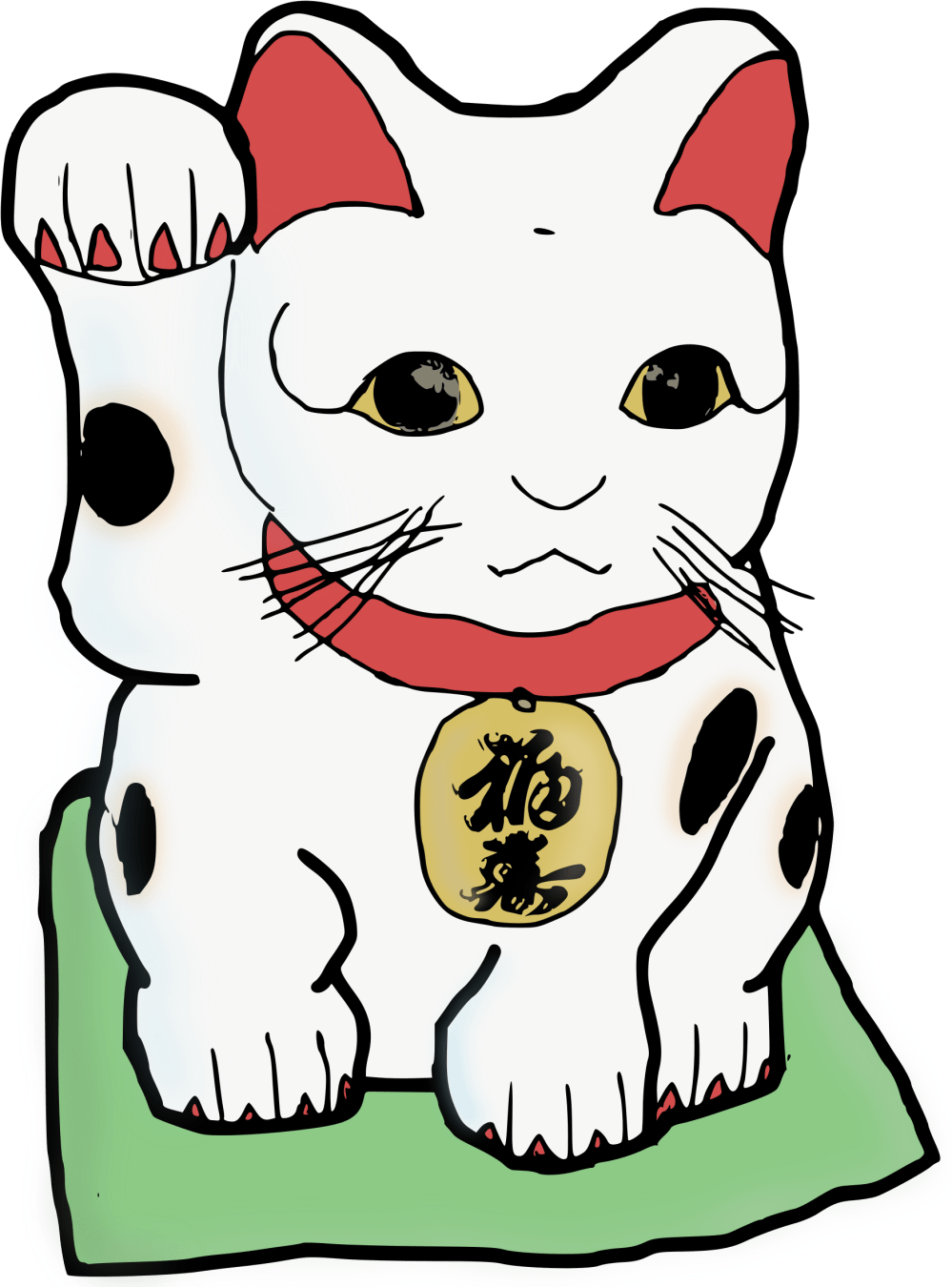 medium resolution of cats clipart colour waving chinese cat transparent background 1764x2400 png download