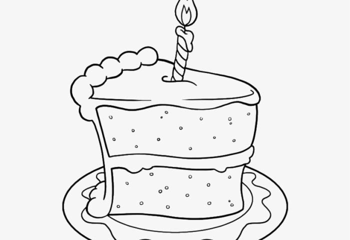 Drawing Birthday Cake Png Birthday Cake Slice Drawing 700x858