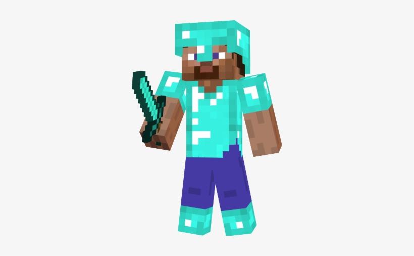 Minecraft Diamond Steve Png Minecraft Diamond Steve Paper Craft 297x426 Png Download Pngkit