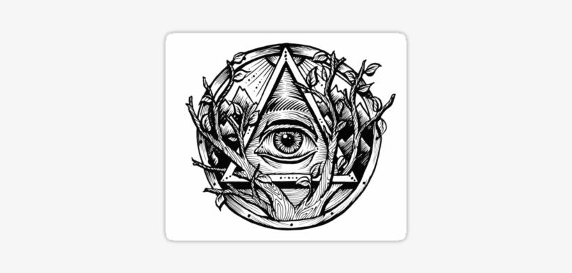 Illuminati Tattoo Png Triangulo Con Ojo Tatuaje 375x360 Png