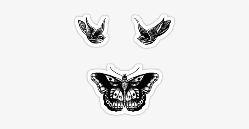 Harry Styles Bird And Butterfly Tattoos By Judymoy Tatuaje De