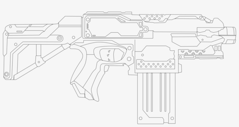 Nerf Gun Coloring Page Printable Pages Nerf Page Adult Nerf Stryfe Coloring Pages 1024x495 Png Download Pngkit