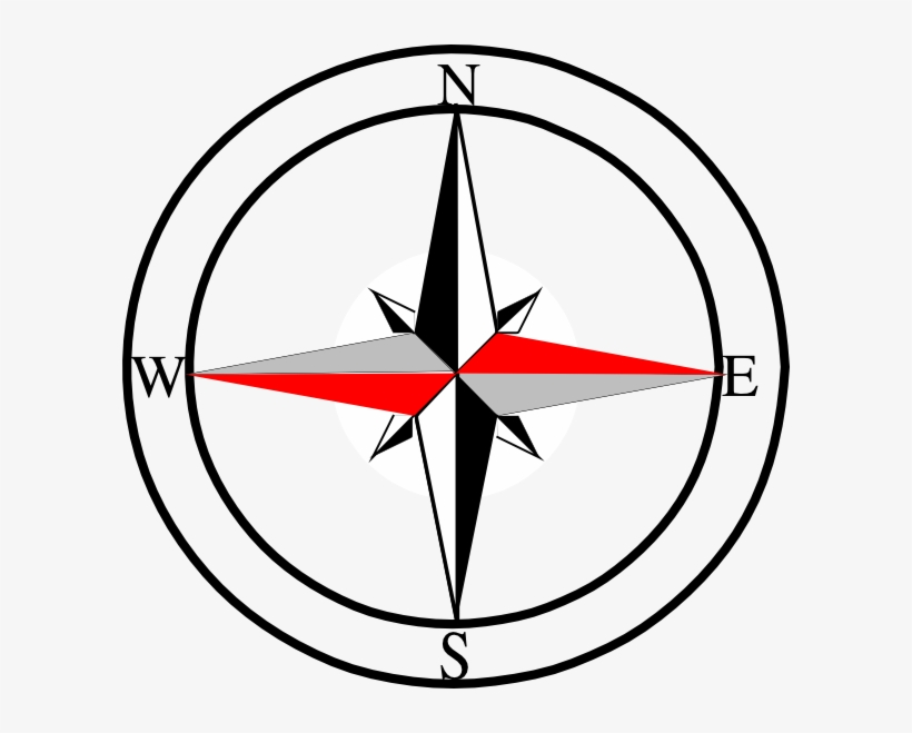 Compass Red Grey - North East West South Symbol - 600x579 PNG Download - PNGkit