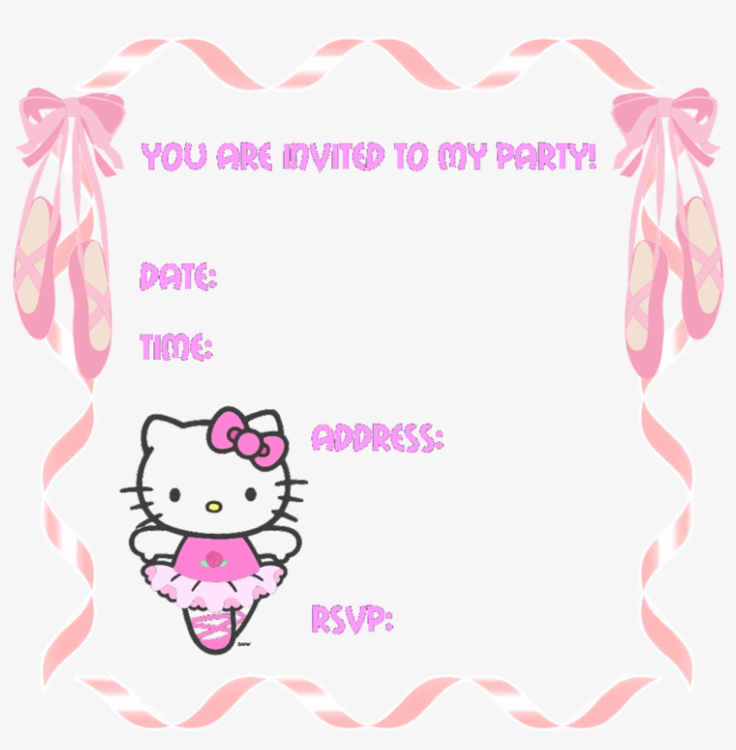 hello kitty birthday invitation cards