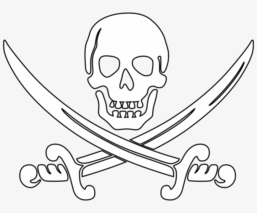 Malvorlage Totenkopf Pirat