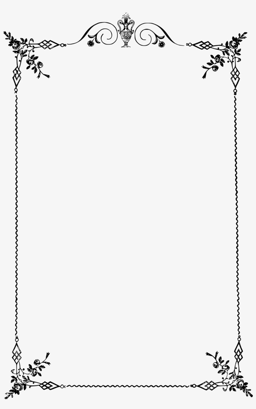 elegant scroll border png