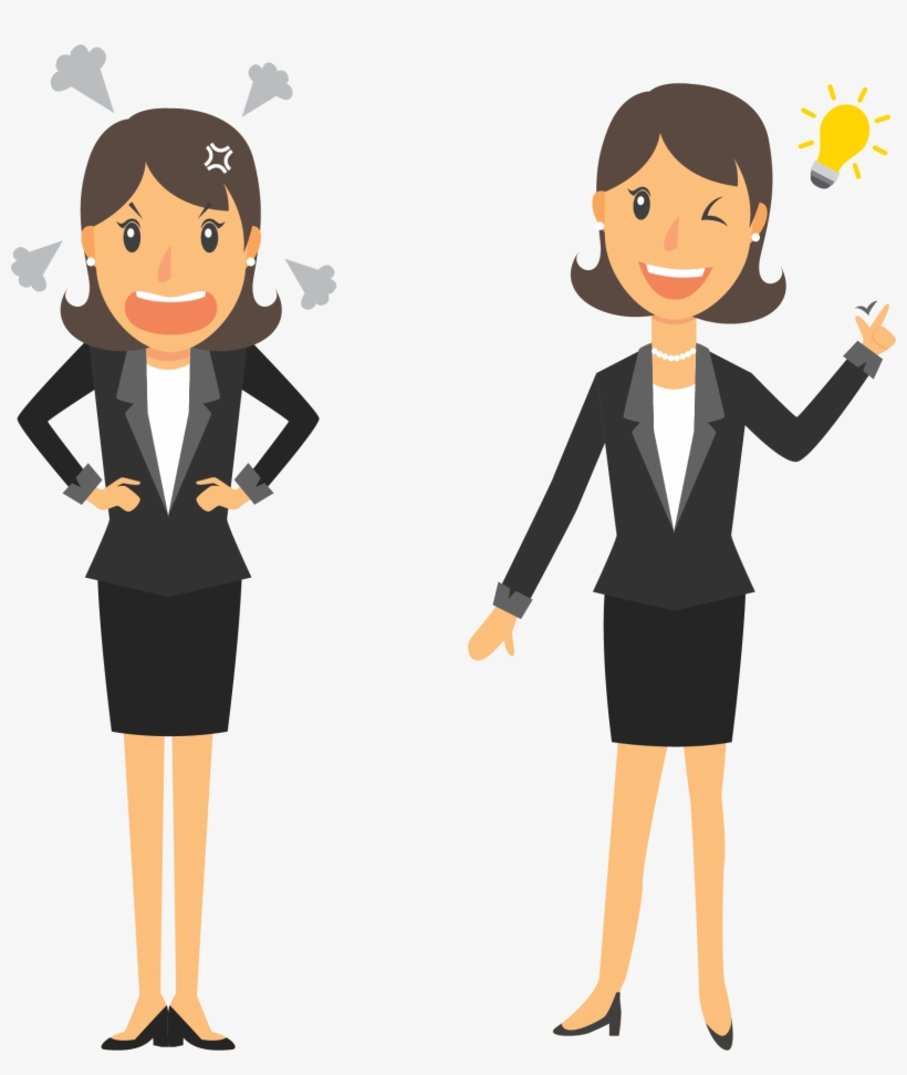 hight resolution of clipart person business woman woman at work cartoon