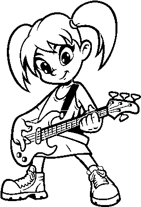 Download Girl With Electric Guitar Coloring Page Kids Colouring Pages Guitar Electric Full Size Png Image Pngkit