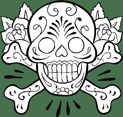 Download Skull Tattoo Coloring Page Tatuajes Para Dibujar Full