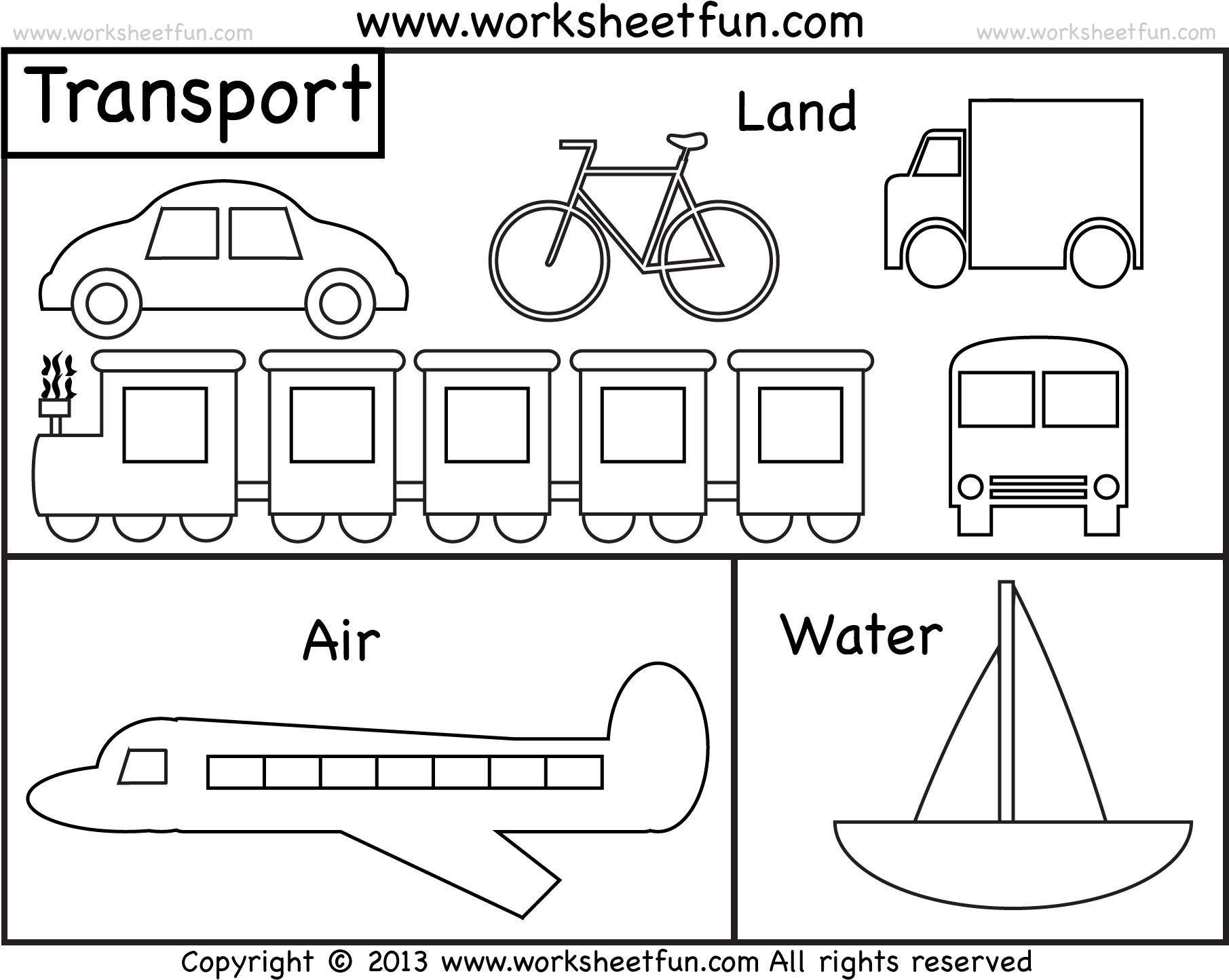 hight resolution of Download Transportation Clipart Different Transportation - Transport  Worksheet For Colouring - Full Size PNG Image - PNGkit