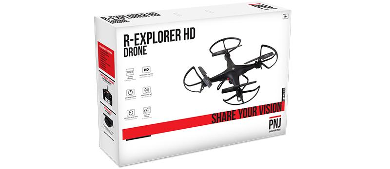 Inclus dans le pack R EXPLORER : – 1X drone…