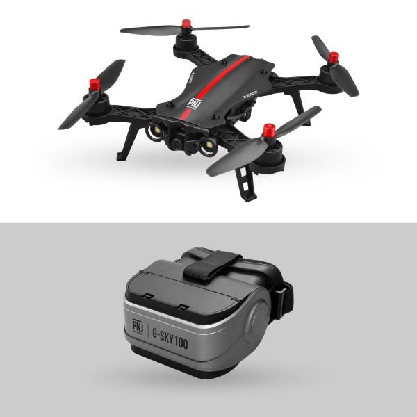 Pack Racer Pro : drone de course R Velocity avec son masque FPV