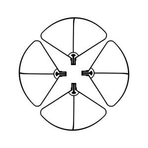 Lot de 4 protections d'hélice pour drone DR WING HD