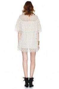 Off White Lace Mini Dress - PNK Casual