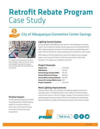 City of Albuquerque Convention Center Case Study