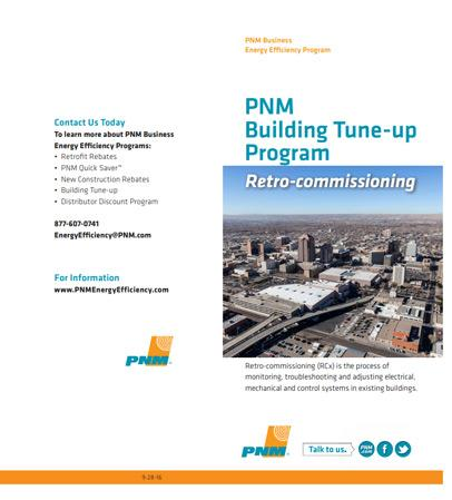 PNM Retro-Commissioning Program brochure