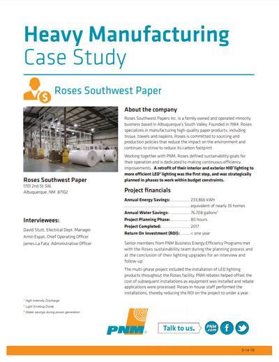 Roses Southwest Paper Case Study