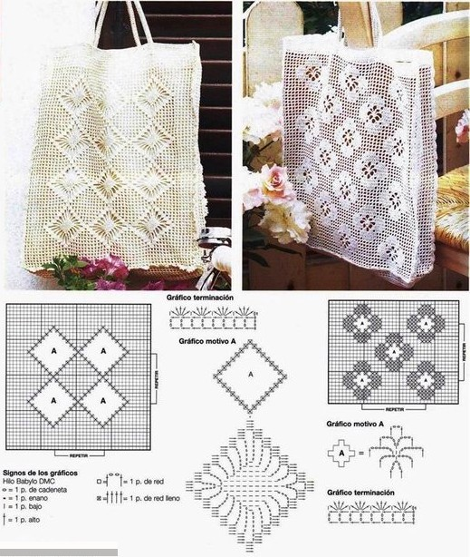 21 Magnifiques Sacs En Crochet Avec Des Diagrammes