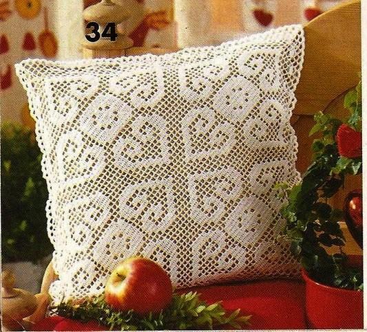 Coussins en Crochet avec Patrons  Crochet et plus