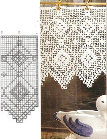 Cortina Cocina Crochet
