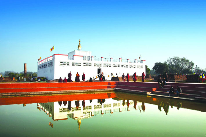 लाखौँ पर्यटक आउने लुम्बिनी  अहिले सुनसान