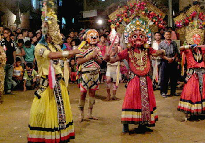 एघार वर्षपछि नवदुर्गा नाच प्रदर्शन शुरु