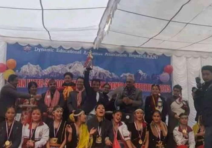 अन्तर विद्यालय लोक साँस्कृतिक नृत्य प्रतियोगिताको उपाधी नेपाल सेन्ट्रेल मा.विको पोल्टामा