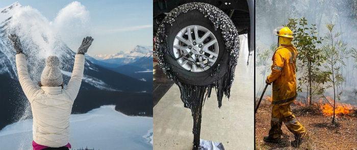 आधा विश्व भयानक चिसोको प्रकोपमा, तर एक यस्तो देश जहाँ सडक र टायर नै पग्लिने गरी अत्याधिक गर्मीको चपेटामा [फोटो फिचर]