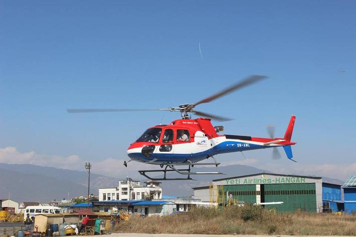 कैलाशले उडायो नयाँ हेलिकोप्टर