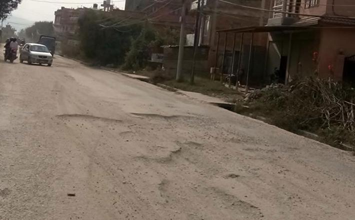 भक्तपुर–नगरकोट सडक निर्माणः चर्को दबाबपछि पाँच महिनामा सक्ने प्रतिबद्धता