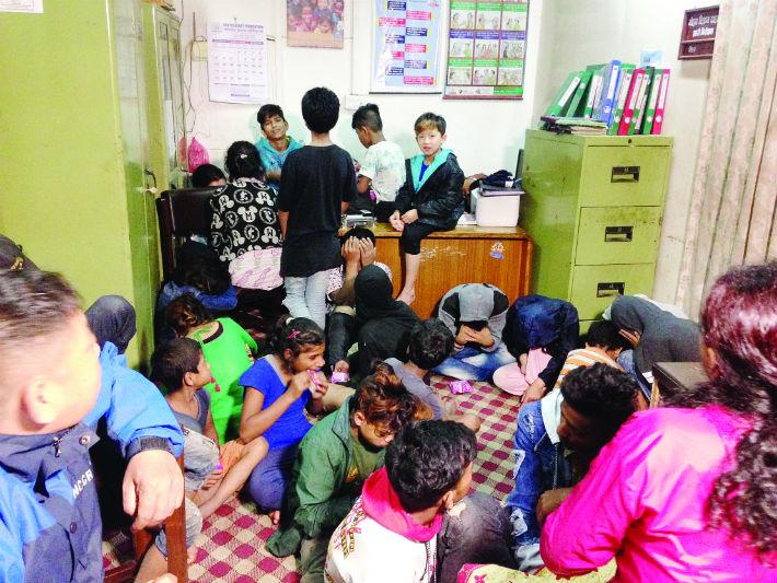 मध्यरातमा ४५ सडक बालबालिकाको उद्धार