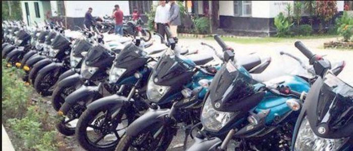 काभ्रेका प्रहरी चौकीमा मोटरसाइकल व्यवस्थापन गर्नै कठिन