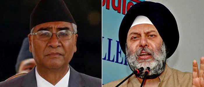 सभापति देउवाद्वारा भारतीय राजदूतसँग टेलिफोन संवाद