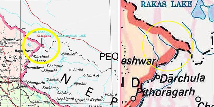 भारतको 'भ्रम' : काली उहीं छ, नक्साबाट नाम मात्र झिकियो