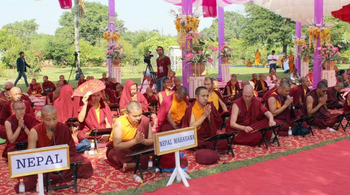 लुम्बिनीमा अभिधम्म पिटक वाचन