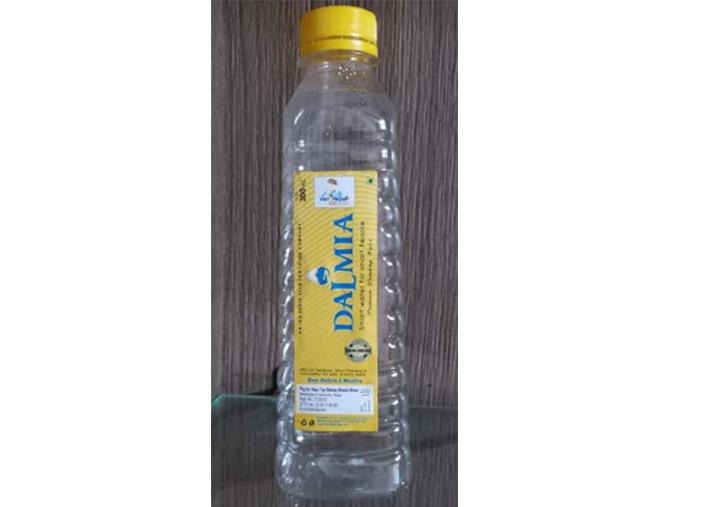 पानीको बोतलमा भ्रमण वर्षको प्रतीक चिह्न